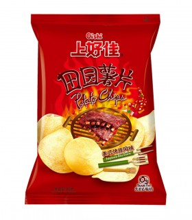 Chips al sapore di costine americane - Oishi 50g
