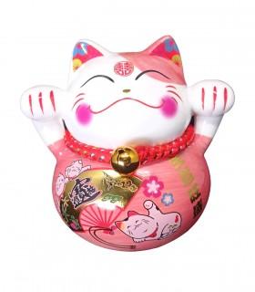 Maneki neko Rosa Gatto Fortunato per Conservazione della ricchezza - Il regalo ideale per imprenditore e commerciante