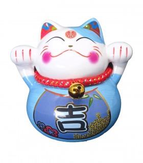 Maneki neko Gatto Fortunato Blu Chiaro - Il regalo ideale per chi ti vuole bene