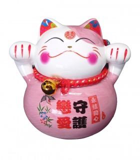 Maneki neko Gatto Fortunato Rosa Chiaro - Guardiano dell'amore