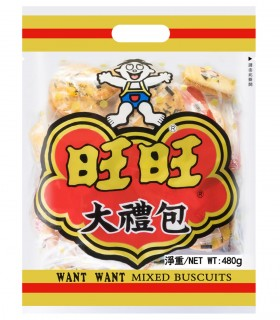 Want Want Senbei Gusto Mix Rice Crackers Confezione Regalo - 480g
