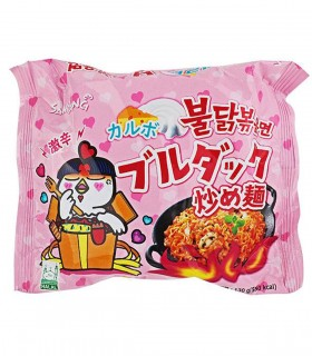 Ramyun Carbonare Gusto Pollo Piccante Noodles Istantaneo Coreano - Samyang 130g