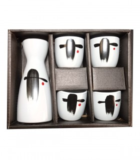 Set Servizio da Sake con 4 Biccherini