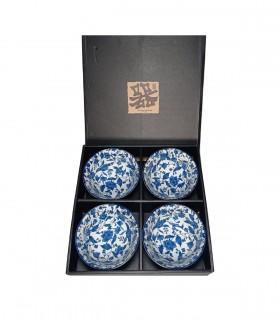 Set 4 citole fiore blu, fatto in giappone a yokohama