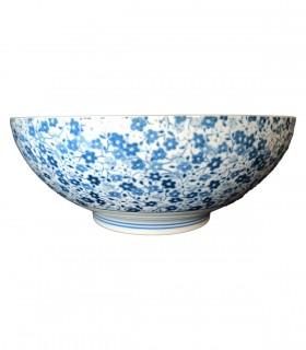 Ciotola in ceramica Giapponese con Piccola Astro Blu - 21cm
