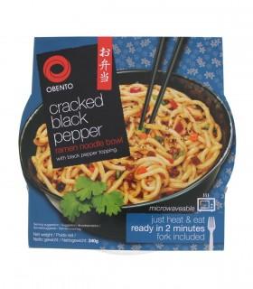 Spaghetti Udon istantaneo con Salsa Pepe nero - Obento 240g