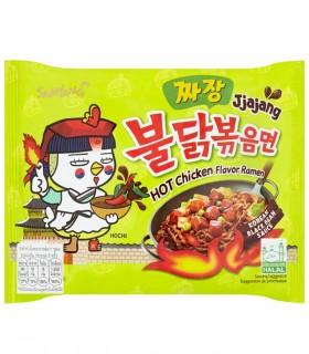 Ramyun Noodles Coreano Pollo Arrosto Piccante e Sasla Jiajang - Samyang 140g