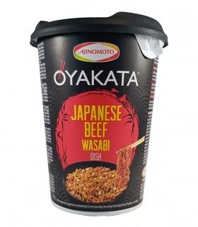 Oyakata Cup Ramen Noodles Gusto manzo con wasabi - Ajinomoto 63g