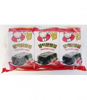 Alghe nori Aromatizzati Gusto Piccante per Tawara Onigiri -  Taokaenoi Brand 3 Confezioni da 4g
