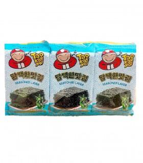 Alghe nori Aromatizzati Gusto Originale per Tawara Onigiri -  Taokaenoi Brand 3 Confezioni da 12g