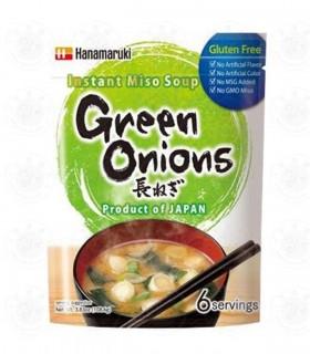 Zuppa di miso istantanea con Cipolle verdi 6 Porzioni - Hanamaruki 108g