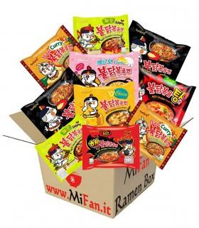MiFan Box Sorpresa - SamYang Ramyun Noodles Coreani Supper Piccante Vari Gusti 9 pz