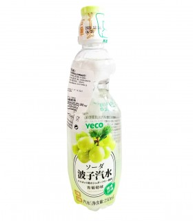 Yeco - Gassosa Gusto la Uva Verde Stile Giapponese senza Zucchero - 250ml