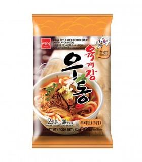 Pasta Udon con zuppa di manzo piccante stile coreani - Wang 2 porzioni