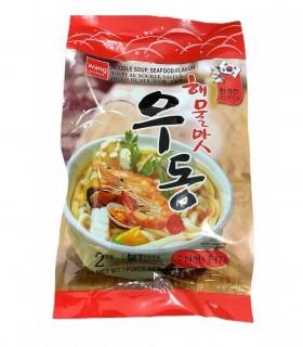 Pasta Udon con zuppa di frutti di mare stile coreani - Wang 2 porzioni
