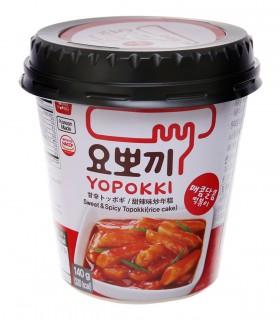 Gnocci di riso Coreani con Salsa Dolce Piccante Topokki cup - Yopokki 140g