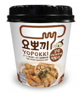 Gnocci di riso Coreani con Salsa Teriyaki all'aglio Topokki cup - Yopokki 120g