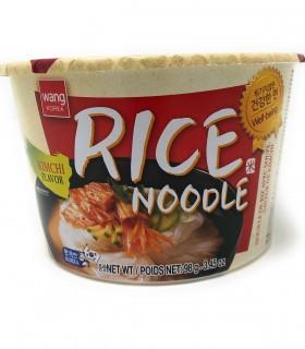 Spaghetti di Riso Istantaneo Coreani con Brodo di Kimchi Rice Noodle Bowl -  Wang 98g