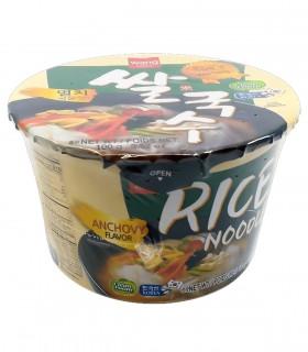 Spaghetti di Riso Istantaneo Coreani con Brodo di Acciughe Rice Noodle Bowl -  Wang 100g