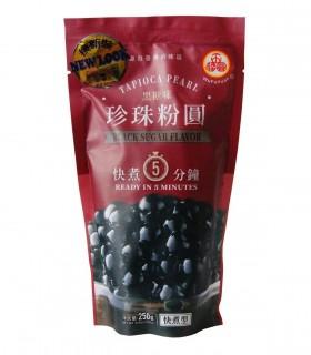 Perle di Tapioca Neri con Zucchero di canna per Bubble Tea - Wufuyuan 250g