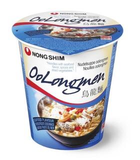 NongShim Oolongmen Cup Noodles Gusto Frutta di Mare - 75g