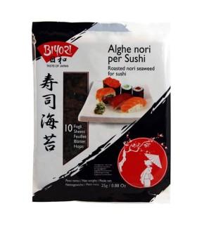 Alghe nori per Sushi - Biyori 10 Fogli