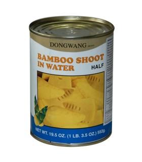 Germogli di Bambu Tagliato a Meta in Acqua - DongWang 567g