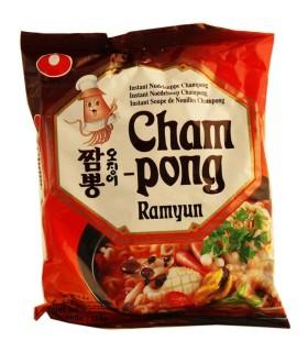 Cham pong Ramyun Istantaneo Noodles Coreano - NongShim 100g