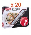 Pasta Shirataki di Konjac Annodato 20 Pezzi per Dieta Dukan