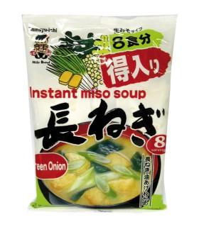 Zuppa di miso con porro e mini tofu fritti - Tokuiri shoku