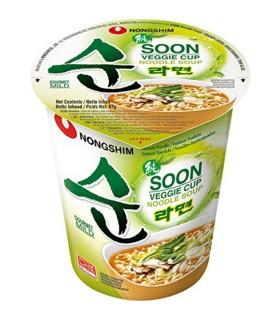 Nongshim  Cup Noodles Coreano Soon Veggie Vegetariano - 67gr