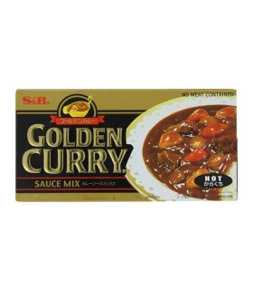 Curry Giapponese Qualita  Golden Gusto Piccante S&B 100g