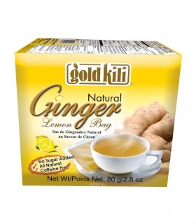 Natural Ginger Lemon Bag Gold Kili 20 bustine