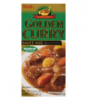 Golden Curry Giapponese gusto medio piccante - s&b 92gr