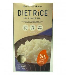 Diet Rice - Konjac di riso secchi 500g - peso dopo reidratati 2.5kg