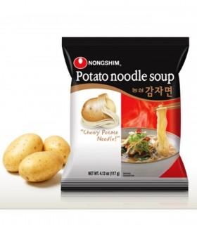 Nongshim Potato Noodle soup, noodle di patate con brodo di Bok Choy