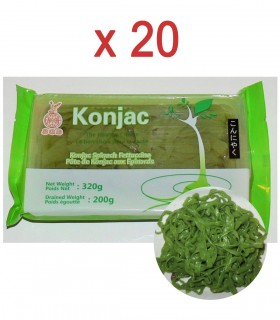 Fettuccine di konjac agli Spinaci 20 Confezioni - 200g