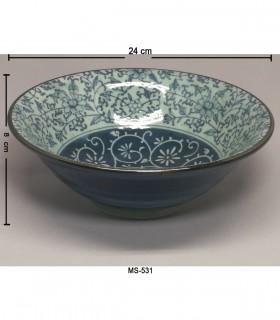 Ciotola Ramen in Porcellana Grande Giapponese -  Decorazioni Fiore Ciana