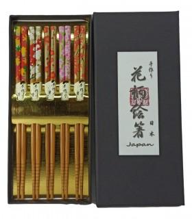 Hanshi - Bacchette Giapponese da 5 - Dipinto a mano fiore autunno