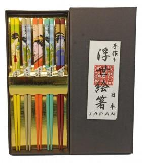 Servizio Bacchette Da 5 - Hashi - Geisha