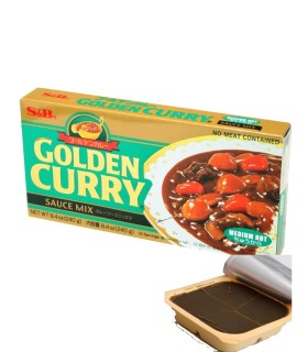 Curry Giapponese Qualita Golden Medio Piccante S&B 240g
